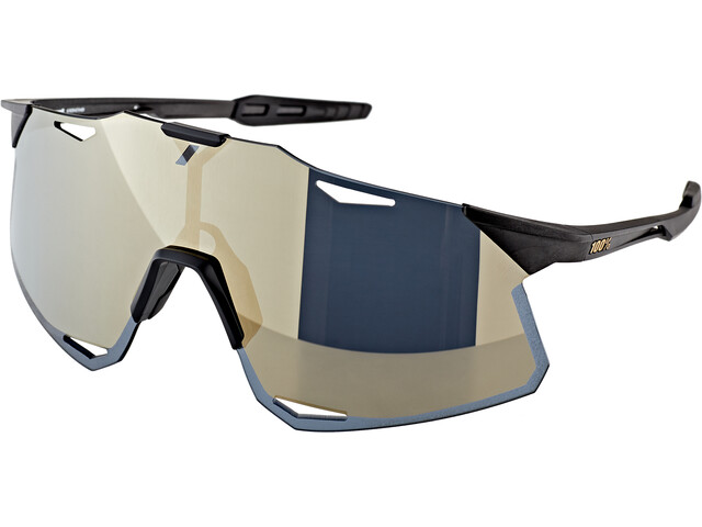 100% Hypercraft Lunettes, matte black/gold mirror